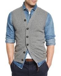 Brunello Cucinelli Cashmere Cardigan Vest Dark Gray