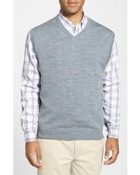 Cutter & Buck Douglas Merino Wool Blend V Neck Sweater Vest