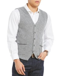 Hart Schaffner Marx Houndstooth Button Sweater Vest