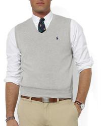 Polo Ralph Lauren Pima Cotton V Neck Sweater Vest