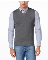 Tommy Hilfiger Signature Solid V Neck Sweater Vest