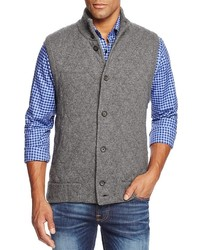 The Store At Bloomingdales Cashmere Diamond Quilted Sweater Vest