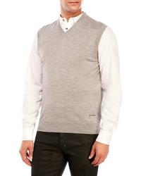 Just Cavalli Wool V Neck Vest