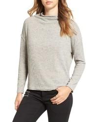 ASTR Open Back Rib Cowl Neck Sweater