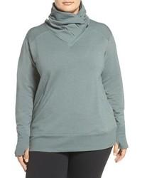 Zella Plus Size Frosty Asymmetrical Zip Pullover