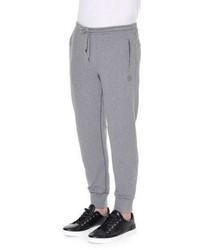 Dolce & Gabbana Crown Logo Knit Sweatpants Gray