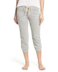 David Lerner Distressed Crop Lounge Pants