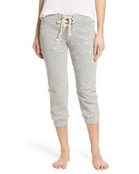 David Lerner Distressed Crop Lounge Pants