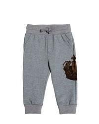 Dolce & Gabbana Crown Printed Cotton Jogging Pants