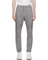 Balmain Grey Cotton Logo Lounge Pants