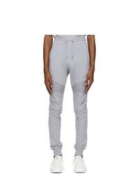 Balmain Grey Flocked Logo Lounge Pants