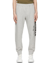 Alexander McQueen Grey Graffiti Lounge Pants