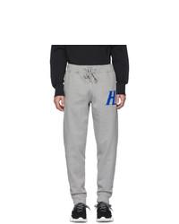 Helmut Lang Grey Monogram Lounge Pants