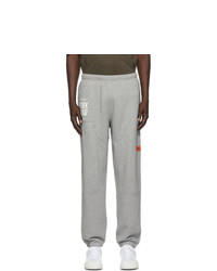 Heron Preston Grey Worldwide Carpenter Lounge Pants