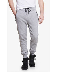 Express Jogger Heather Gray Double Knit Pant