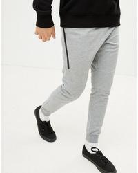 YOURTURN Jogger In Grey With Cuffed Hem