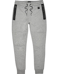 River Island Light Grey Only Sons Sporty Joggers