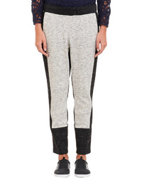 Sea Melange Colorblock Sweatpants Grey