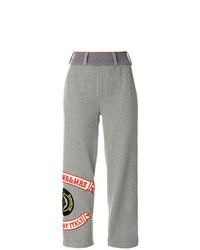 Mr & Mrs Italy Patched Cropped Jogging Trousers