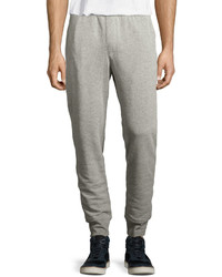 ATM Anthony Thomas Melillo Slim Fit Cotton Blend Sweatpants Gray