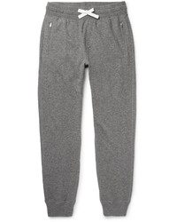 Tom Ford Slim Fit Tapered Mlange Cashmere And Cotton Blend Sweatpants