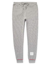 Thom Browne Tapered Waffle Knit Cotton Sweatpants