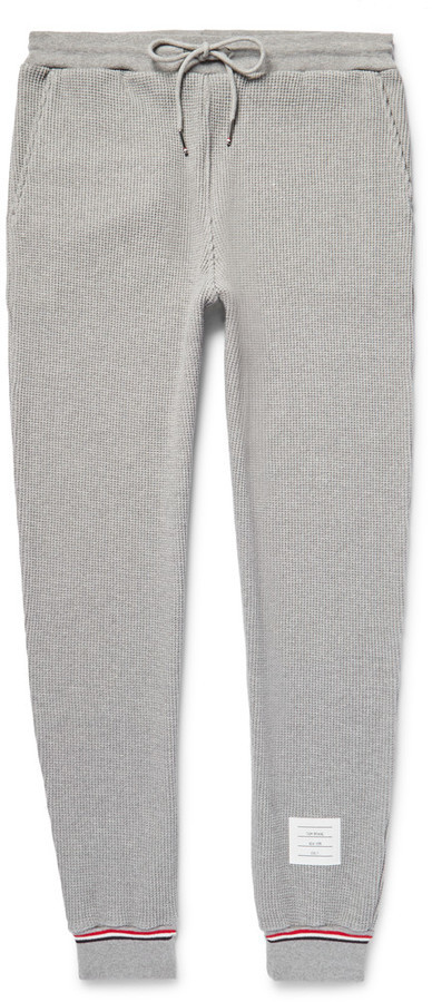 2f6a611af663 ... Thom Browne Tapered Waffle Knit Cotton Sweatpants ...