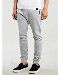 Topman Grey Zip Detail Joggers