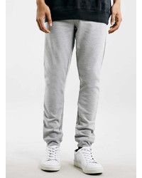 Topman Light Grey Pique Skinny Fit Joggers