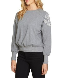 1 STATE 1state Embroidered Shoulder Sweatshirt