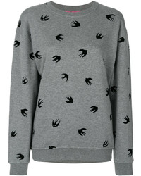 Alexander ueen flocked swallow sweatshirt medium 3994373