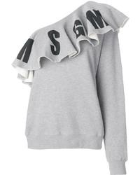 MSGM Asymmetric Ruffle Sweatshirt