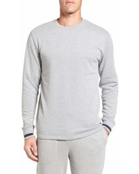Brushed jersey cotton blend crewneck sweatshirt medium 6983981