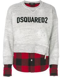 Dsquared2 Contrast Hem Logo Sweatshirt