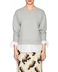 Derek Lam 10 Crosby Cotton Terry Eyelet Sweatshirt