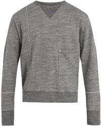 Maison Margiela Crew Neck Cotton Sweatshirt
