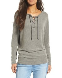 Cupcakes And Cashmere Danton Lace Up Sweatshirt
