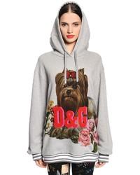 Dolce & Gabbana Dog Logo Cotton Jersey Sweatshirt