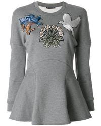 Alexander McQueen Embroidered Sweatshirt Top