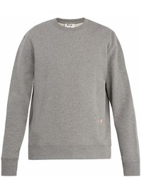 Acne Studios Faise Embroidered Cotton Sweatshirt