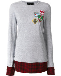 Dsquared2 Flannel Panelled Sweatshirt