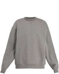 Acne Studios Flogho Round Neck Cotton Sweatshirt