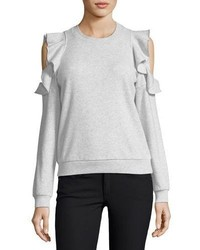 Rebecca Minkoff Gracie Crewneck Cold Shoulder Cotton Sweatshirt