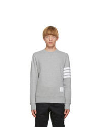 Thom Browne Grey 4 Bar Classic Crewneck Sweatshirt