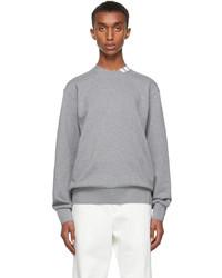 Thom Browne Grey 4 Bar Mock Neck Sweatshirt