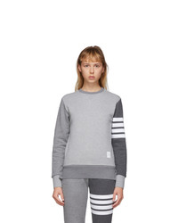 Thom Browne Grey Classic Loopback 4 Bar Sweatshirt