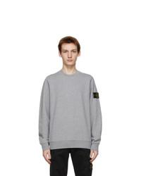 Stone Island Grey Cotton Classic Sweatshirt