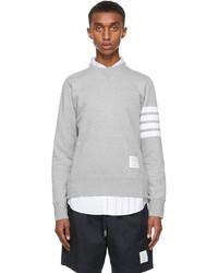 Thom Browne Grey Cotton Loopback 4 Bar Sweatshirt