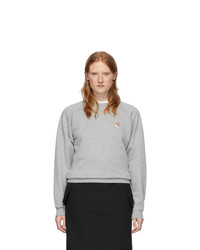 MAISON KITSUNE Grey Fox Head Sweatshirt