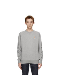 MAISON KITSUNÉ Grey Fox Head Sweatshirt
